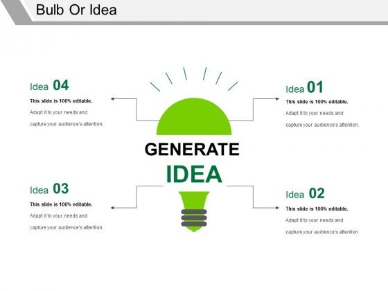 Bulb Or Idea Ppt PowerPoint Presentation Inspiration Sample