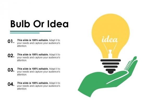 Bulb Or Idea Ppt PowerPoint Presentation Layouts Ideas