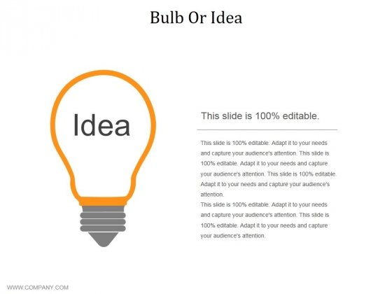 Bulb Or Idea Ppt PowerPoint Presentation Layouts Information