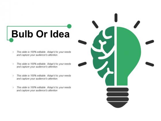 Bulb Or Idea Ppt PowerPoint Presentation Outline Template