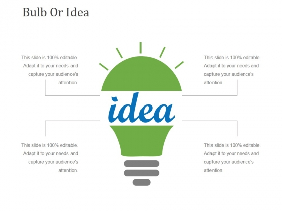 Bulb Or Idea Ppt PowerPoint Presentation Pictures Grid
