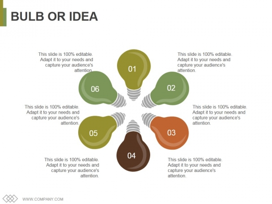 Bulb Or Idea Ppt PowerPoint Presentation Pictures Infographics