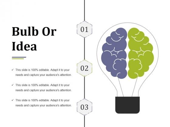 Bulb Or Idea Ppt PowerPoint Presentation Portfolio Deck
