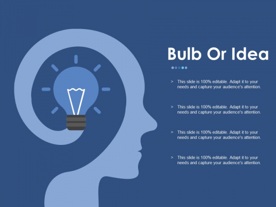 Bulb Or Idea Ppt PowerPoint Presentation Portfolio Guide