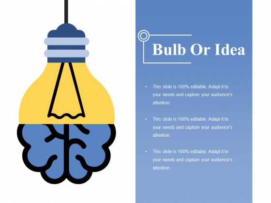 Bulb Or Idea Ppt PowerPoint Presentation Professional Icons