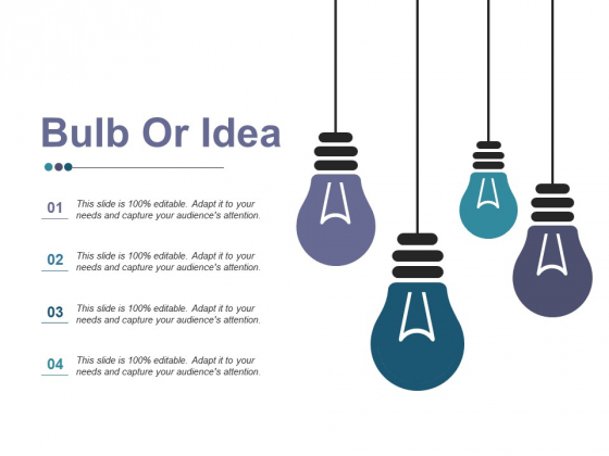Bulb Or Idea Ppt PowerPoint Presentation Professional Samples
