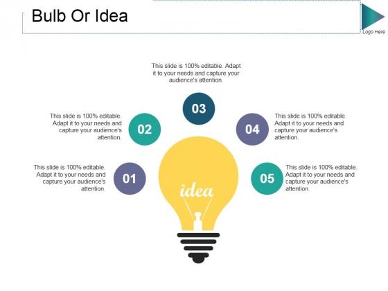 Bulb Or Idea Ppt PowerPoint Presentation Show Grid