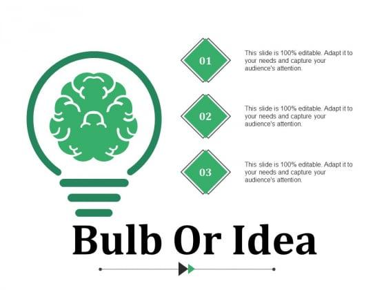 Bulb Or Idea Ppt PowerPoint Presentation Slides Gridlines