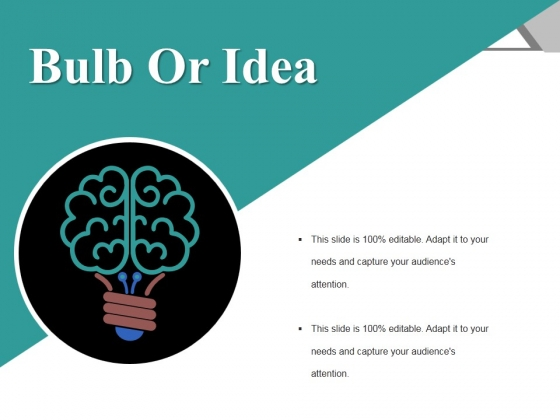 Bulb Or Idea Ppt PowerPoint Presentation Slides Summary