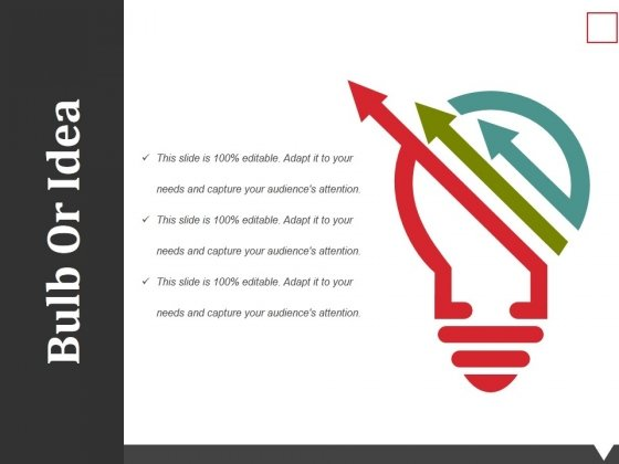 Bulb Or Idea Ppt PowerPoint Presentation Styles Graphics Example