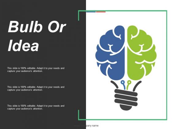 Bulb Or Idea Ppt PowerPoint Presentation Summary Display
