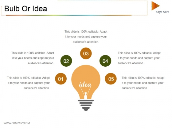Bulb Or Idea Ppt PowerPoint Presentation Summary Outfit