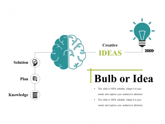 Bulb Or Idea Ppt PowerPoint Presentation Visual Aids Files
