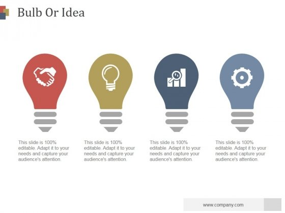 Bulb Or Idea Ppt PowerPoint Presentation Visual Aids