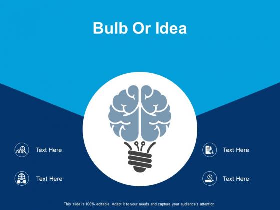 Bulb Or Idea Stretegy Ppt PowerPoint Presentation Pictures Aids