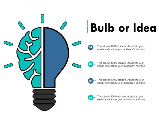 Bulb Or Idea Technology Innovation Ppt PowerPoint Presentation Inspiration Show