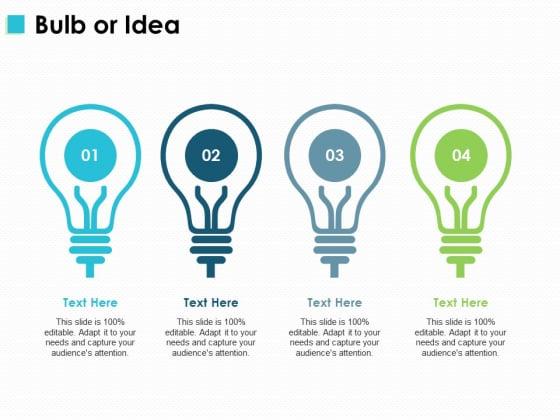Bulb Or Idea Technology Innovation Ppt PowerPoint Presentation Model Smartart