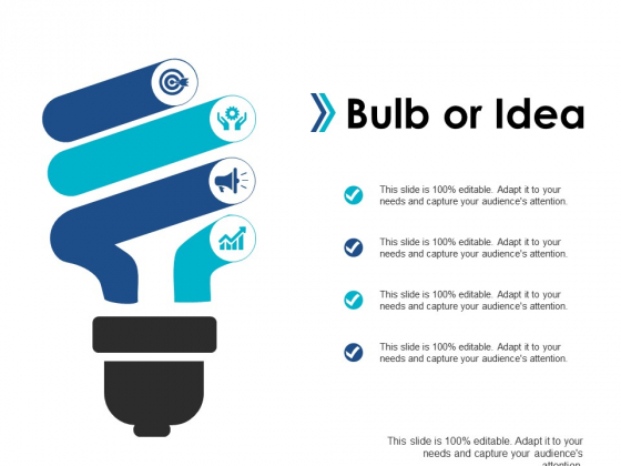 Bulb Or Idea Technology Marketing Ppt Powerpoint Presentation Infographics Example Topics