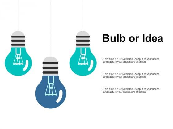 Bulb Or Idea Technology Ppt PowerPoint Presentation Ideas Clipart Images