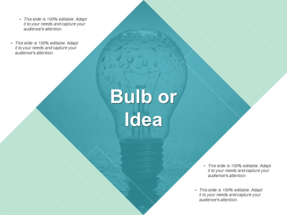Bulb Or Idea Technology Ppt PowerPoint Presentation Infographic Template Example Topics