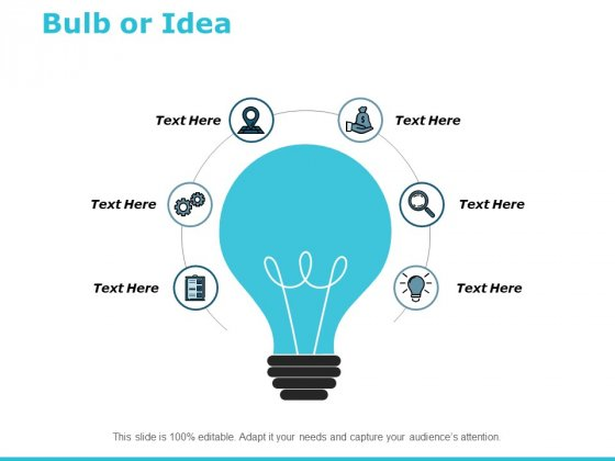 Bulb Or Idea Technology Ppt PowerPoint Presentation Infographics Master Slide