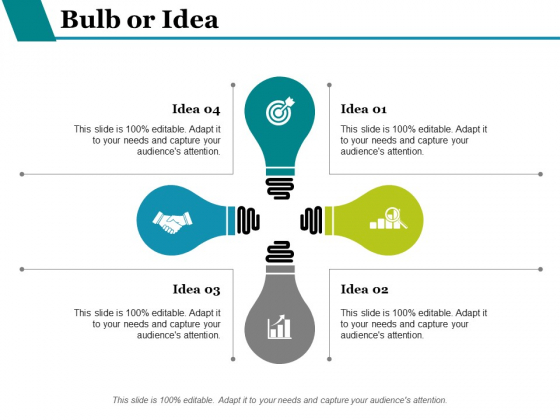 Bulb Or Idea Technology Ppt PowerPoint Presentation Inspiration Background Designs
