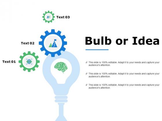 Bulb Or Idea Technology Ppt Powerpoint Presentation Model Slide