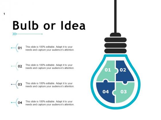 Bulb Or Idea Technology Ppt PowerPoint Presentation Outline Gridlines