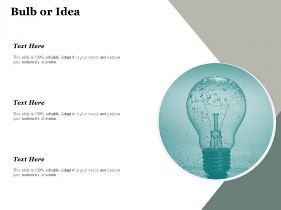 Bulb Or Idea Technology Ppt PowerPoint Presentation Professional Slide Download