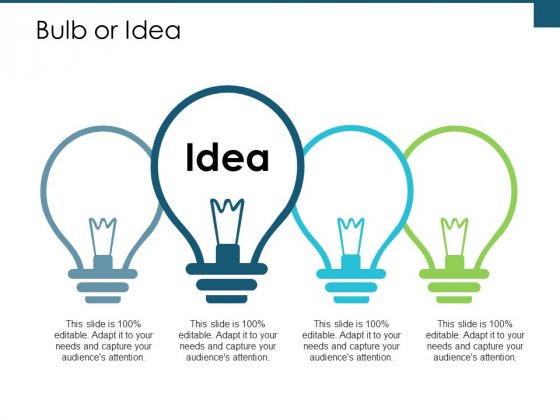 Bulb Or Idea Technology Ppt PowerPoint Presentation Show Grid