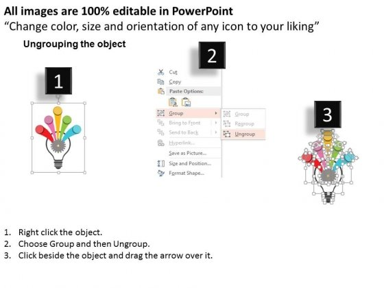 Bulb_With_Gear_And_Five_Arrows_Steps_Powerpoint_Template_2