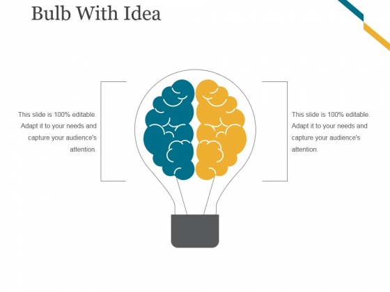 Bulb With Idea Ppt PowerPoint Presentation Background Images