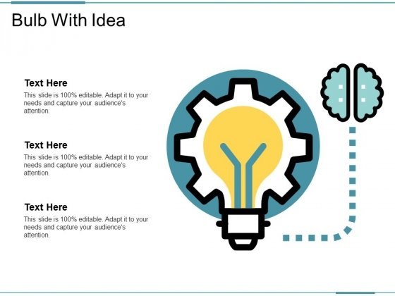 Bulb With Idea Ppt PowerPoint Presentation File Structure