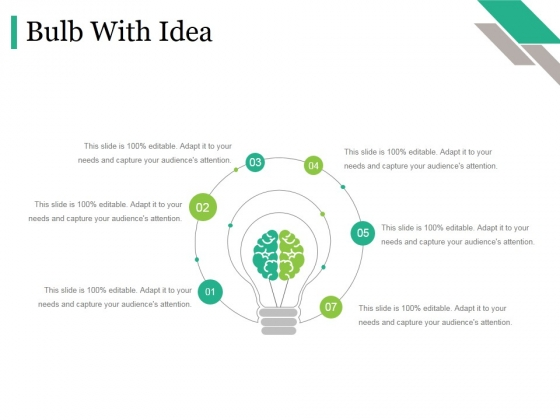 Bulb With Idea Ppt PowerPoint Presentation Gallery Portrait