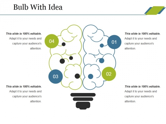 Bulb With Idea Ppt PowerPoint Presentation Infographic Template Background Images