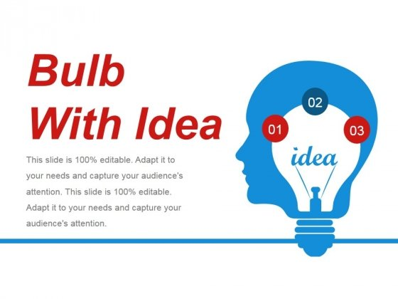 Bulb With Idea Ppt PowerPoint Presentation Show Background Designs