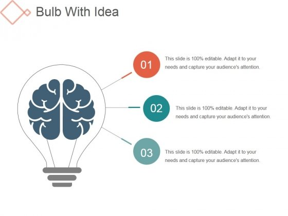 Bulb With Idea Ppt PowerPoint Presentation Slides
