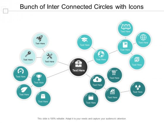 Bunch Of Inter Connected Circles With Icons Ppt Powerpoint Presentation Infographic Template Gridlines