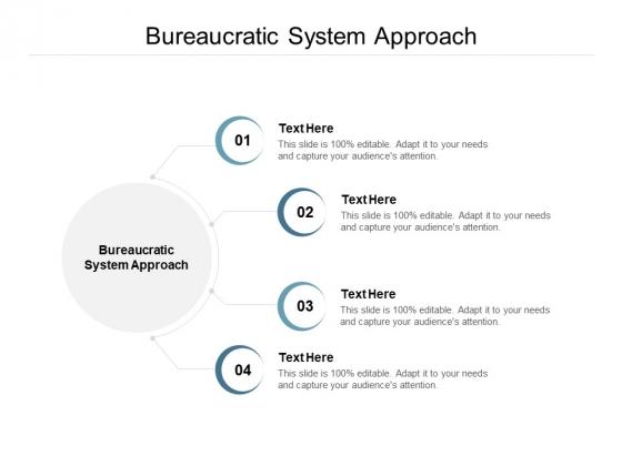 Bureaucratic System Approach Ppt PowerPoint Presentation Icon Deck