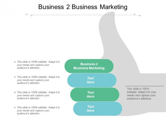 Business 2 Business Marketing Ppt PowerPoint Presentation Icon Microsoft Cpb