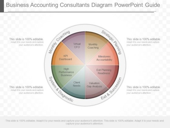 Business Accounting Consultants Diagram Powerpoint Guide