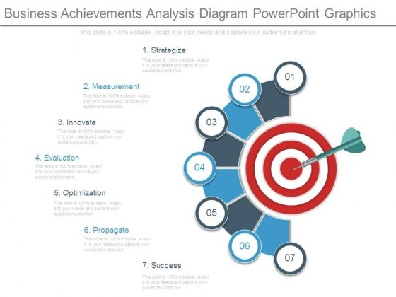 Business Achievements Analysis Diagram Powerpoint Graphics