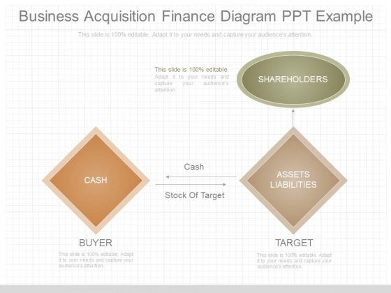 Business Acquisition Finance Diagram Ppt Example