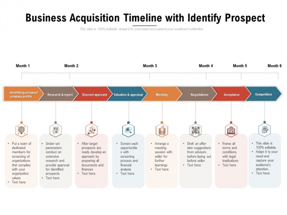 Business Acquisition Timeline With Identify Prospect Ppt PowerPoint Presentation File Professional PDF