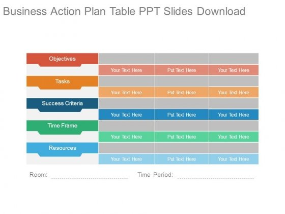 Business Action Plan Table Ppt Slides Download - Powerpoint Templates