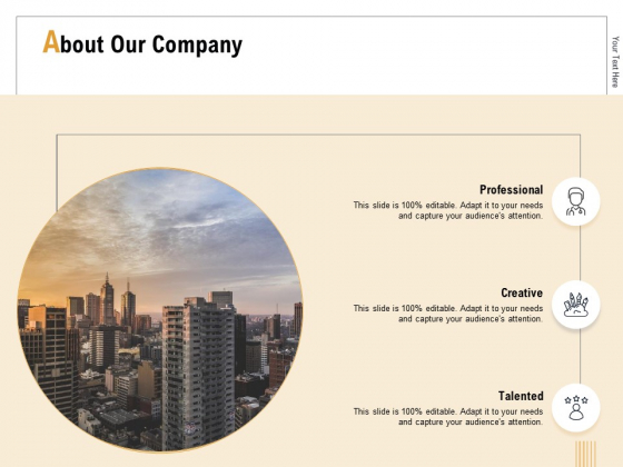 Business Activity Flows Optimization About Our Company Ppt PowerPoint Presentation Styles Graphics Example PDF
