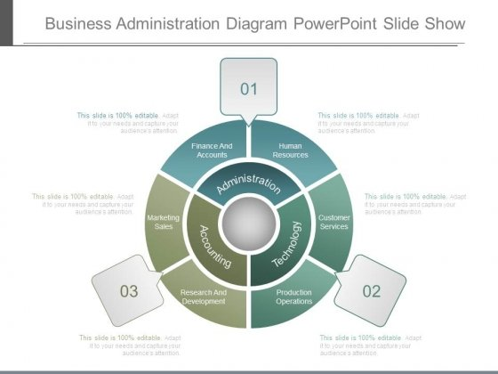 Business Administration Diagram Powerpoint Slide Show