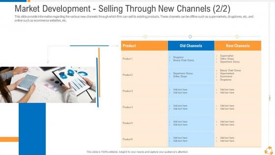 Business Advancement Internal Growth Market Development Selling Through New Channels Product Topics PDF