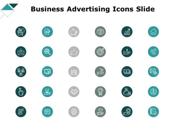 Business Advertising Icons Slide Ppt PowerPoint Presentation Professional Visual Aids