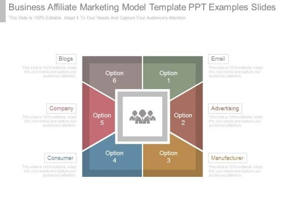 Business Affiliate Marketing Model Template Ppt Examples Slides